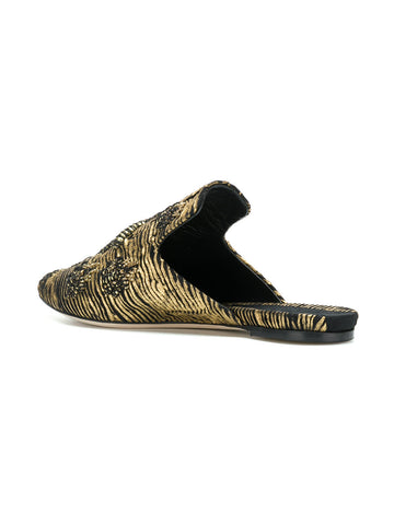 GOLD TONED MULES FROM Sanayi 313