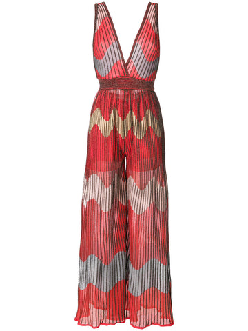JUMPSUIT IN RED FROM M MISSONI