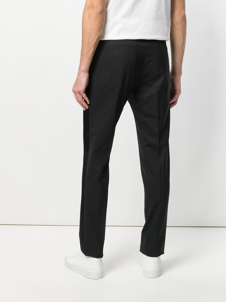 BLACK PANTS WITH BLACK PINSTRIPE FROM LES HOMMES