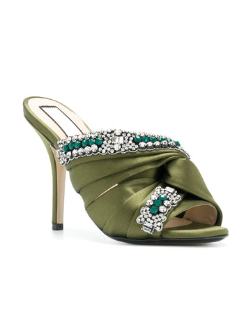 GREEN STILETTO WITH STONES FROM Nº21