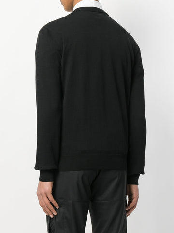 BLACK KNIT WITH STUDS FROM LES HOMMES