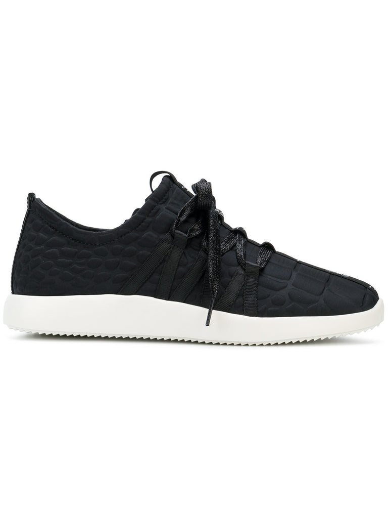 BLACK RUNNER WITH LOGO BAND FROM GIUSEPPE ZANOTTI