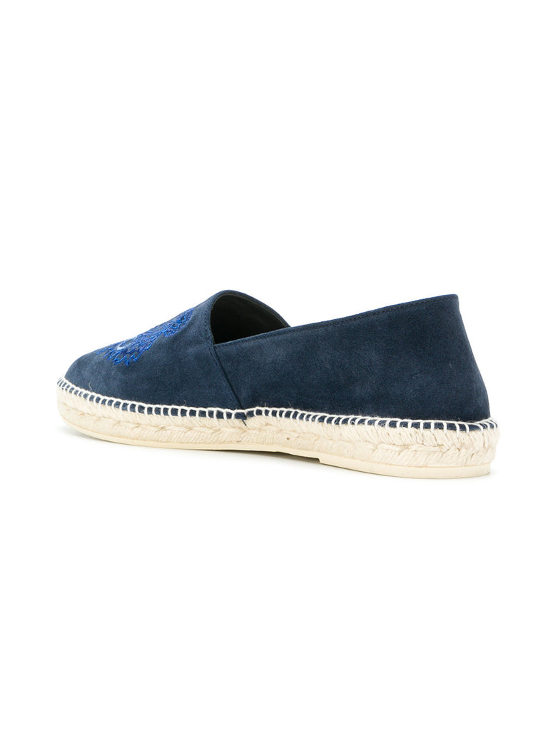 BLUE SUEDE ESPADRILLES WITH TIGER FROM KENZO