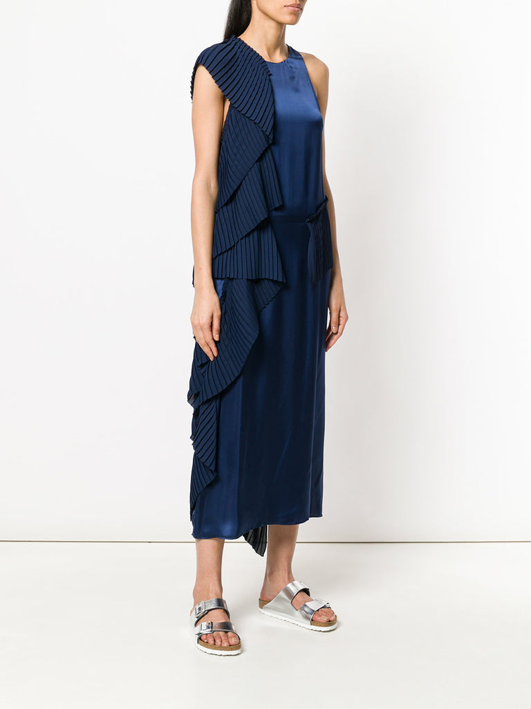 BLUE PLEATED DRESS FROM KENZO