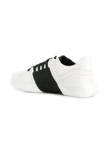 White low leather sneakers from Versace