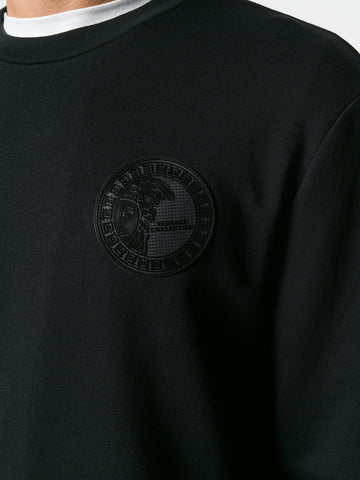 BLACK COTTON LOGO SWEATSHIRT FROM VERSACE