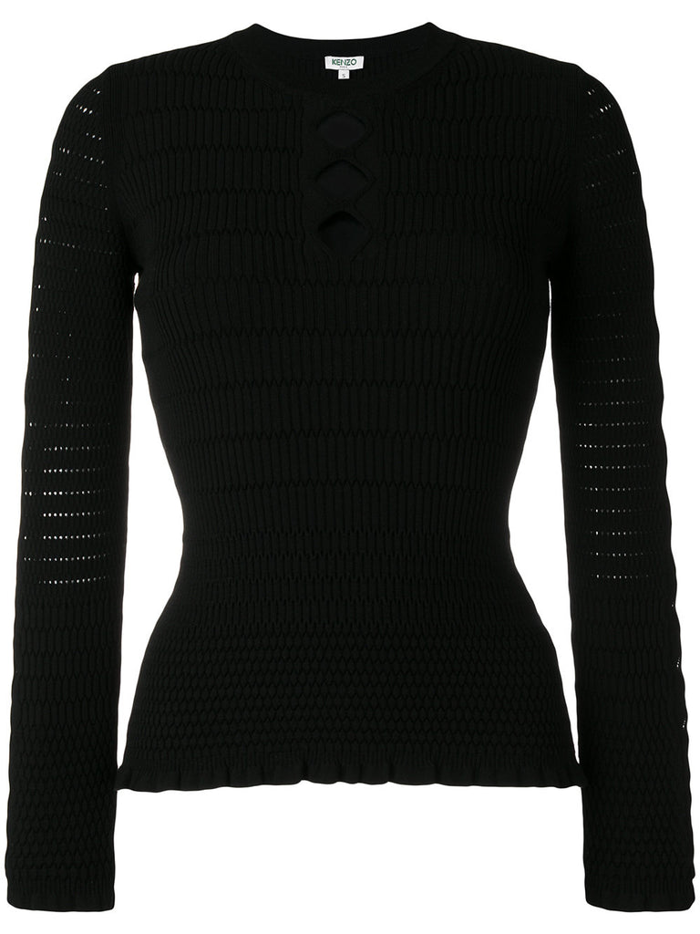 BLACK KNIT WITH  DETAILS FROM KENZO