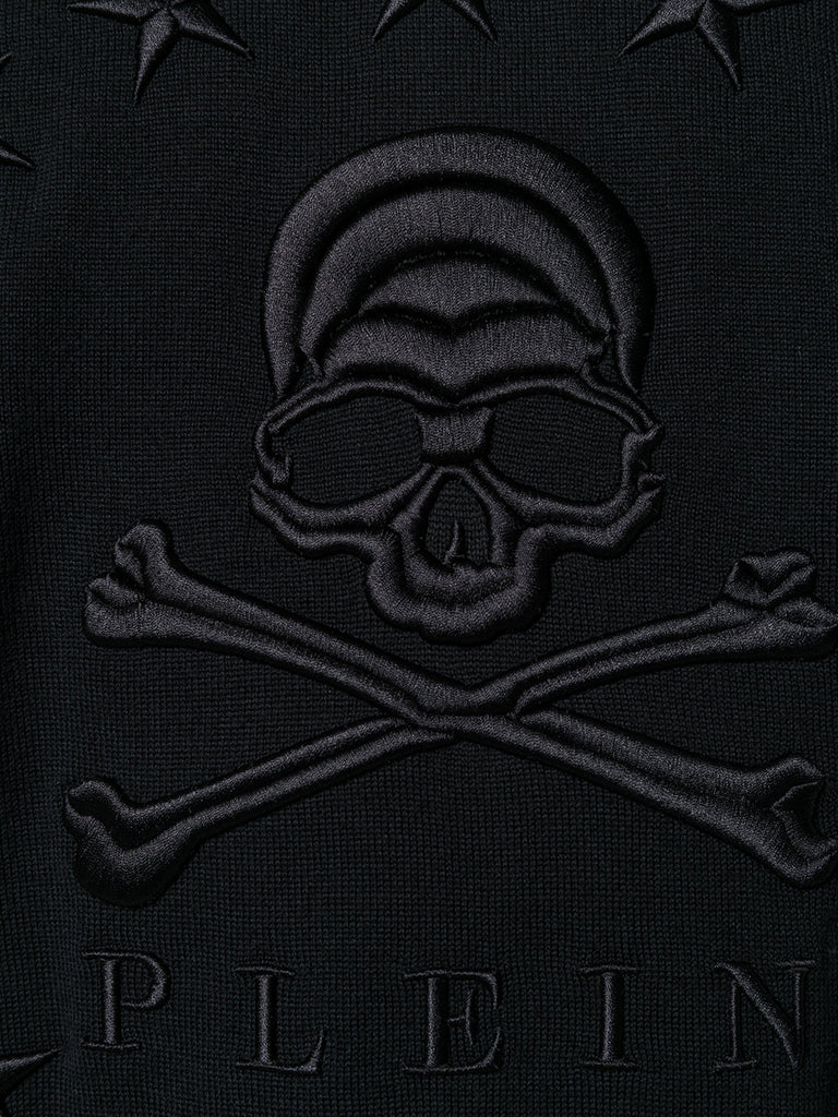BLACK SCULL AND STARS KNIT FROM PHILIPP PLEIN