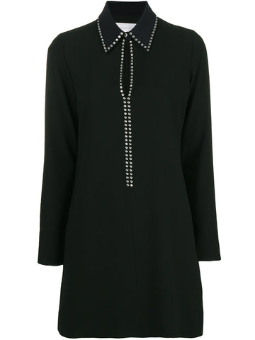 black dress with glass studs from victoria beckham