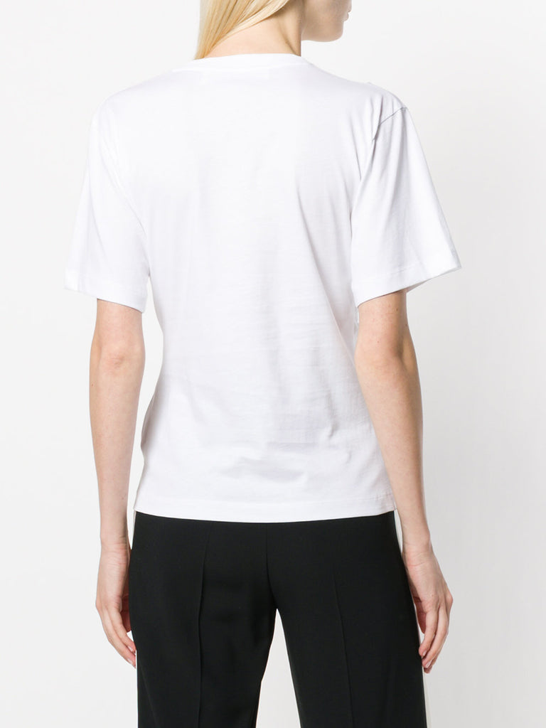 Draped tshirt in white