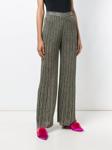 KHAKI GREEN MULTI PANTS FROM  M MISSONI