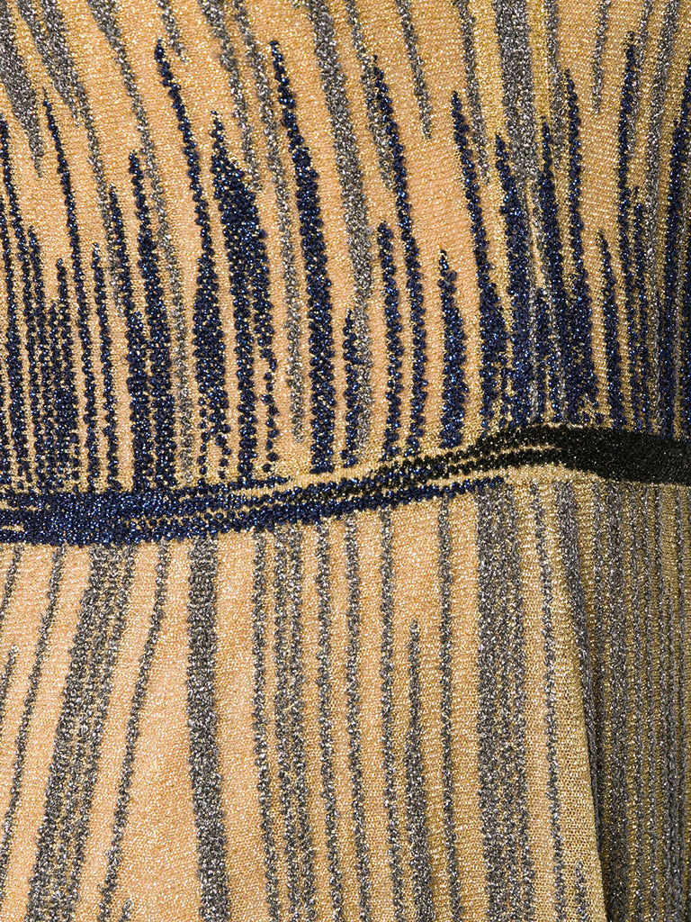 Missoni dress in gold and navy blue metallic fibres