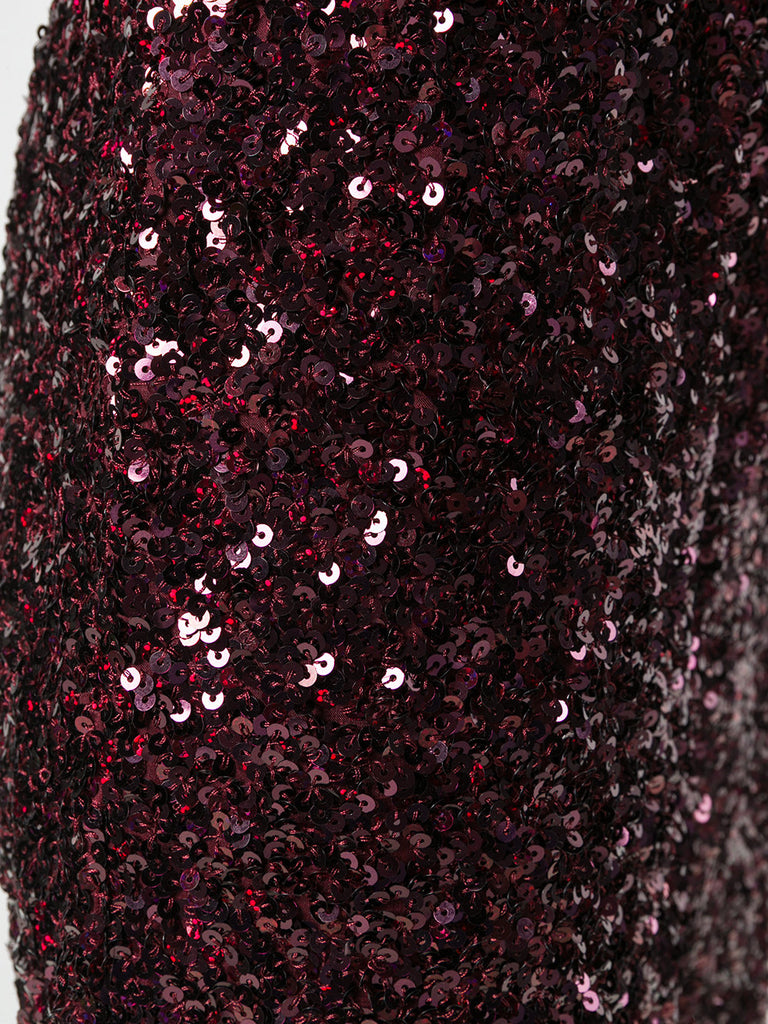 WINE SEQUIN PANTS FROM VICTORIA BECKHAM