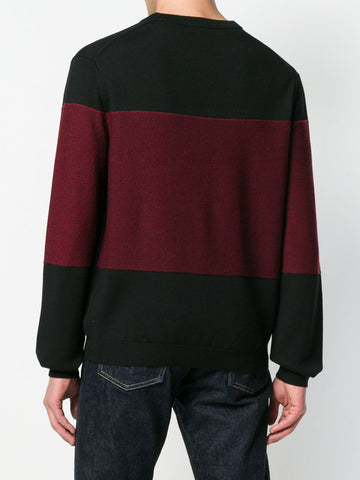 BLACK KNIT WITH BLUE AND RED K FROM KENZO