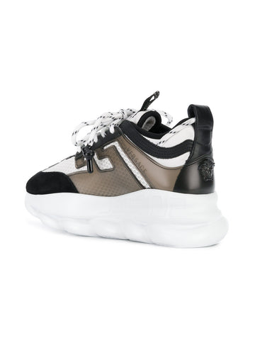 CHAIN REACTION BALCK AND WHITE SNEAKER FROM VERSACE
