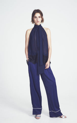 NAVY TOP WITH LACE FROM BIRGITTE HERSKIND