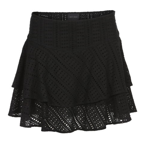 BLACK BRODERI ANGLAISE SKIRT FROM BIRGITTE HERSKIND