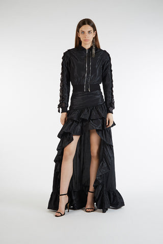 black skirt with ruffle from amen couture
