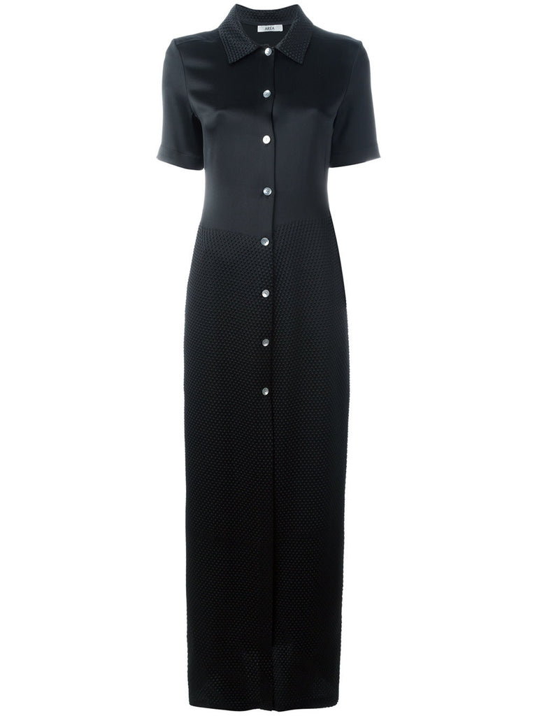 Short sleeved maxi shirt dresss