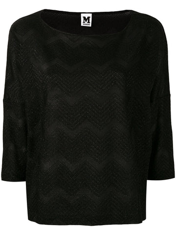 BLACK METALLIC BLOUSE FROM M MISSONI