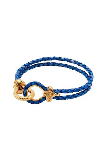 BLUE HANDMADE BRACELET WITH GOLD HOOK FROM NIALAYA