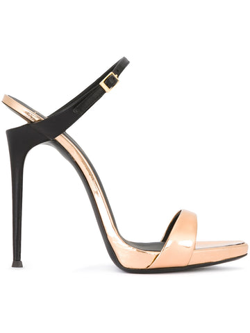 ROSEGOLD STILETTO BLACK HEEL FROM GIUSEPPE ZANOT