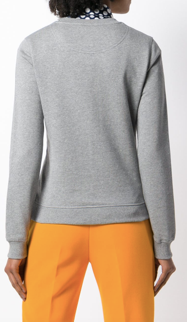 KENZO GREY SWEATSHIRT WITH EYE AND TURQUISE