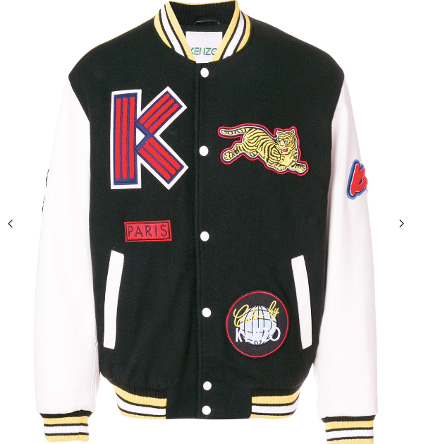 BOMBER JACKET WITH PATCHES AND DRAGON FROM KENZO