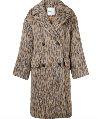 LEOPARD PRINT WOOL COAT FROM KENZO