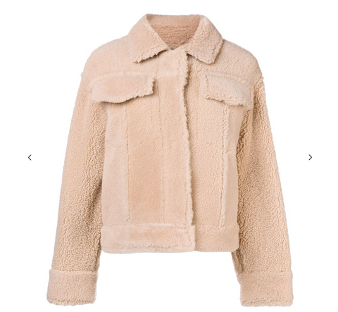 PEACH BEIGE SHEEP JACKET FROM KENZO