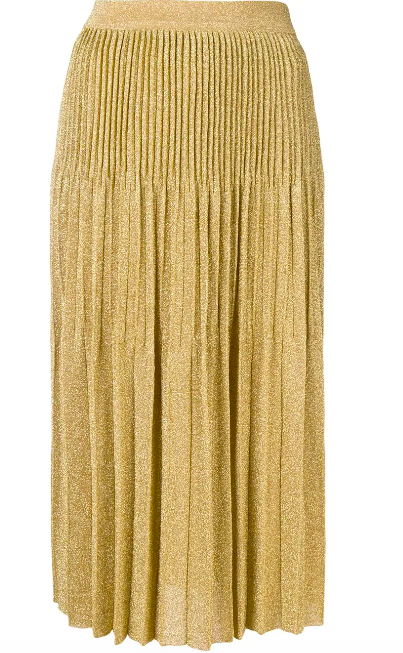 GOLD PLEATED SKIRT FROM MISSONI