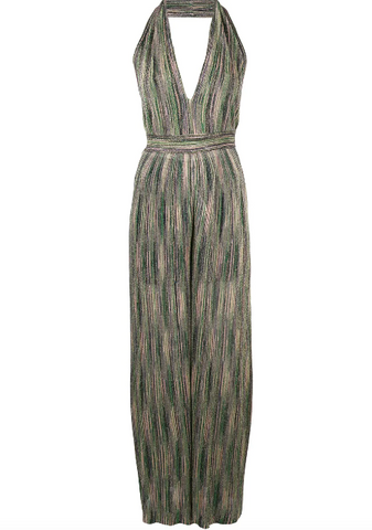 GREEN JUMPSUIT WITH HALTERNECK FROM MISSONI