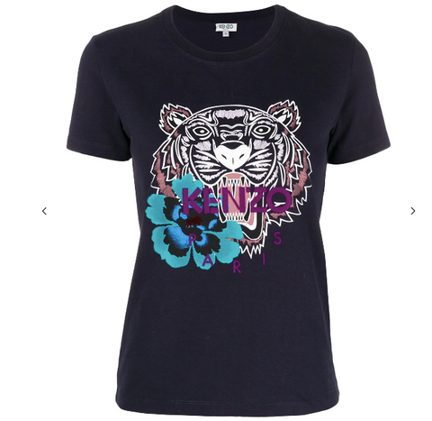 Kenzo T-shirt Blue Navy Tiger Flower