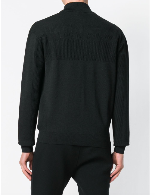 BLACK ZIP KNIT FROM KENZO