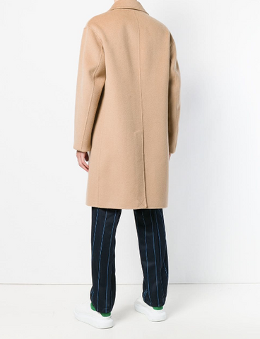 CAMEL CASHMERE AND WOOL COAT FROM KENZO