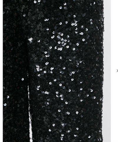 BLACK SEQUINS PANTS FROM VICTORIA BECKHAM