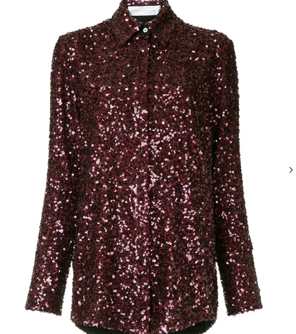 WINE SEQUINS SHIRT FROM VICTORIA BECKHAM