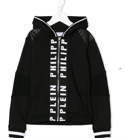 black hoodie for children from philipp plein