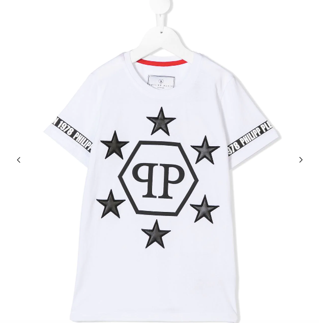WHITE STAR TSHIRT FOR CHILDREN FROM PHILIPP PLEIN