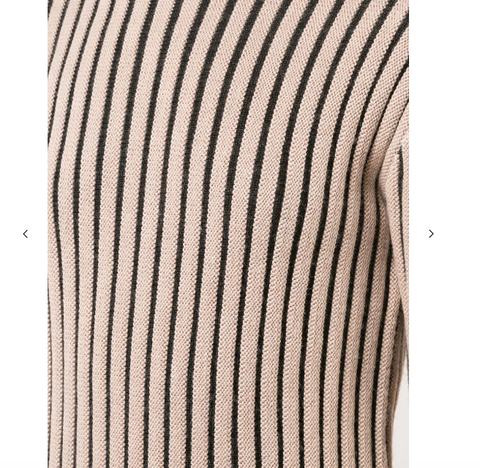 CAMEL AND BLACK STRIPE KNIT FROM VICTORIA BECKHAM