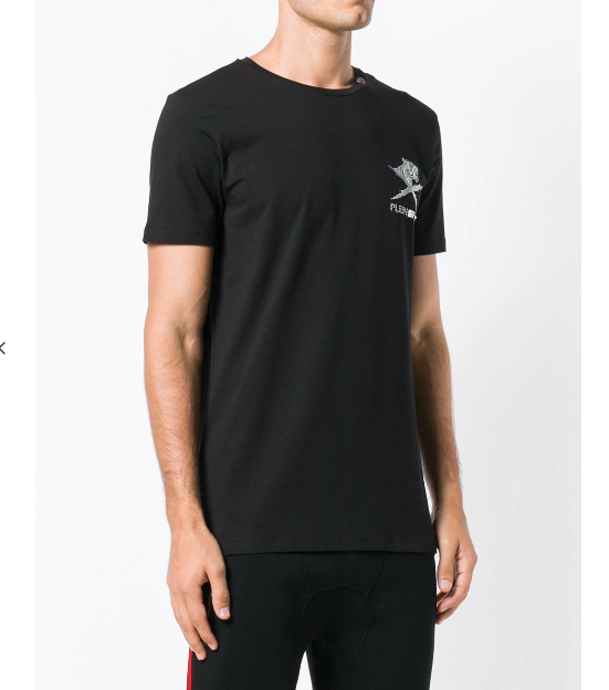 BLACK PLEINSPORT TSHIRT WITH SILVER LOGO FROM PHILIPP PLEIN