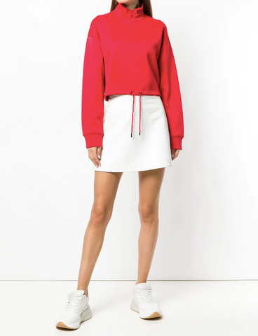 RED CROPPED SHORT SWEATSHIRT FROM KENZO