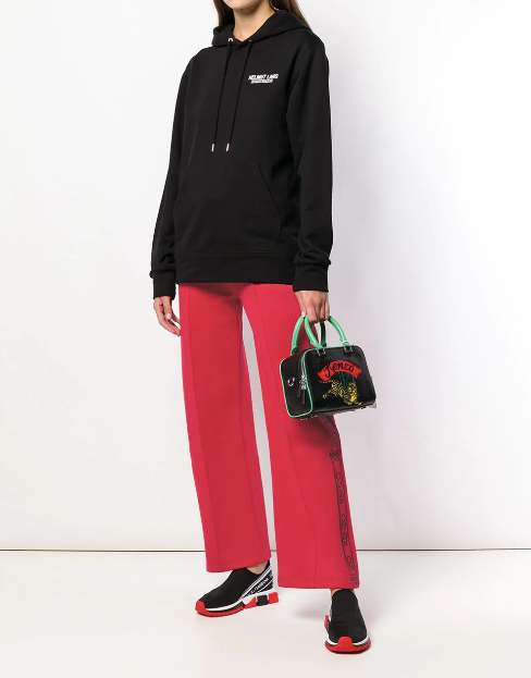RED TRACK PANTS WITH LOGO FROM KENZO