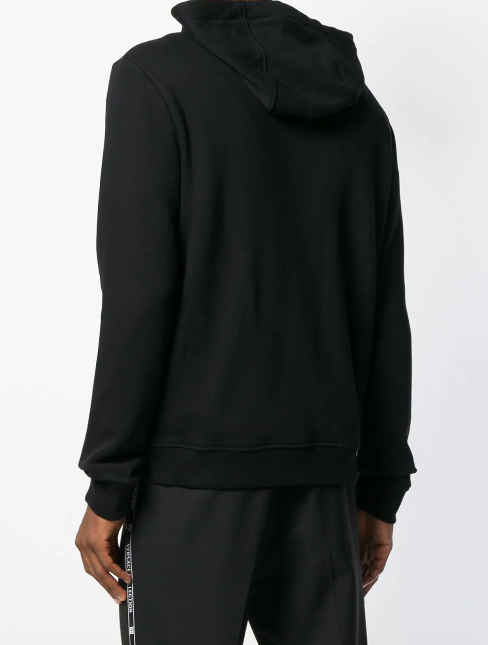 Black hoodie with logo band from Versace