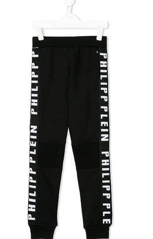 BLACK LOGO JOGGINGS FOR KIDS FROM PHILIPP PLEIN