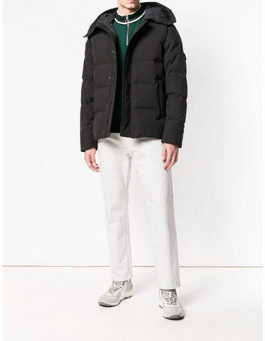 BLACK HOODED DOWN JACKET FROM KENZO