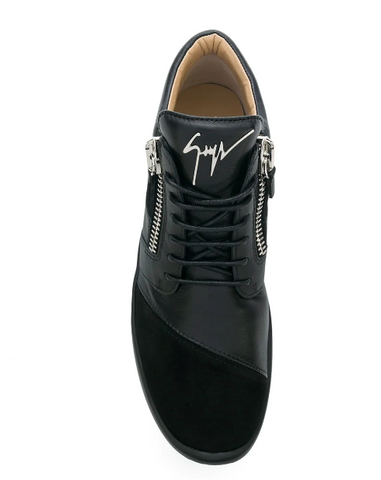 BLACK RUNNER WITH SILVER LOGO FROM GIUSEPPE ZANOTTI