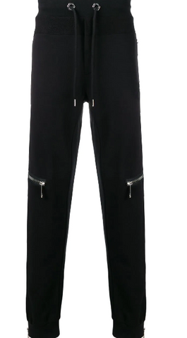 BLACK ZIP TRACK PANTS FROM PHILIPP PLEIN