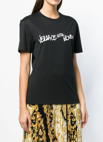 BLACK VERSACE TSHIRT WITH LOVE