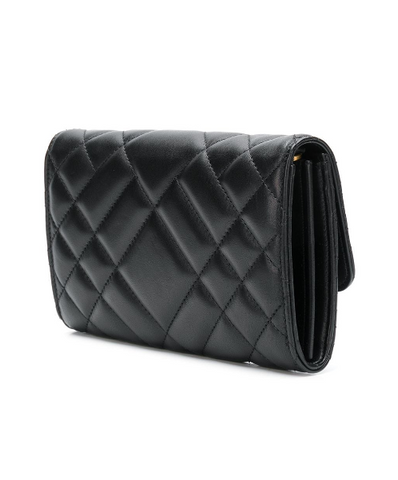 QUILTED SHOULDER BLACK BAG FROM VERSACE